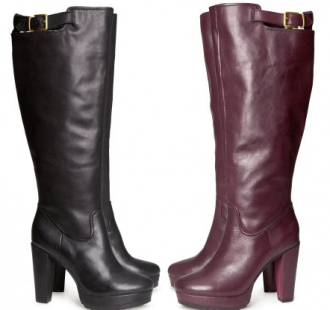 Looking for some leather party boots? Both colors are on sale now from $129 to $50!