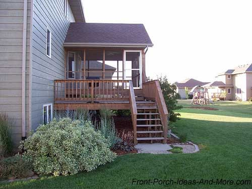 You can have a screen porch over deck, too! From Front-Porch-Ideas-and-More.com #backporch
