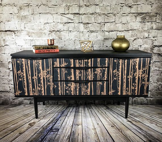 Painted Sideboard TV unit Upcycled Sideboard Retro Cabinet