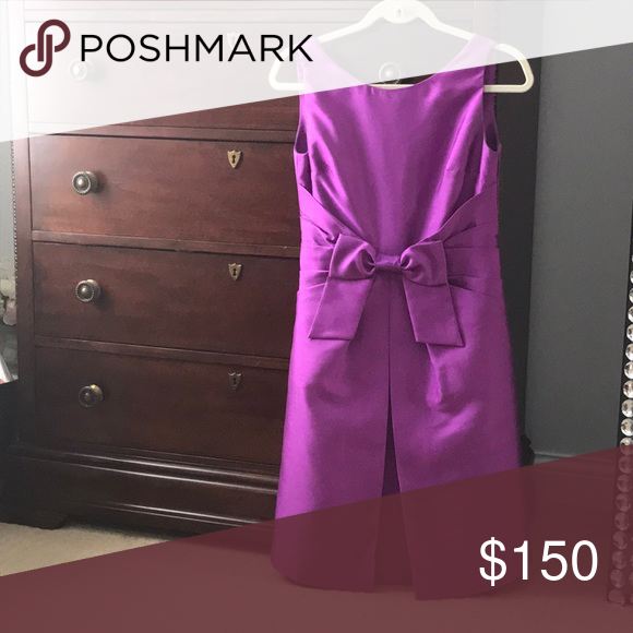 459e0c3a9d79b Kate Spade Purple Bow Dress In excellent condition! kate spade ...