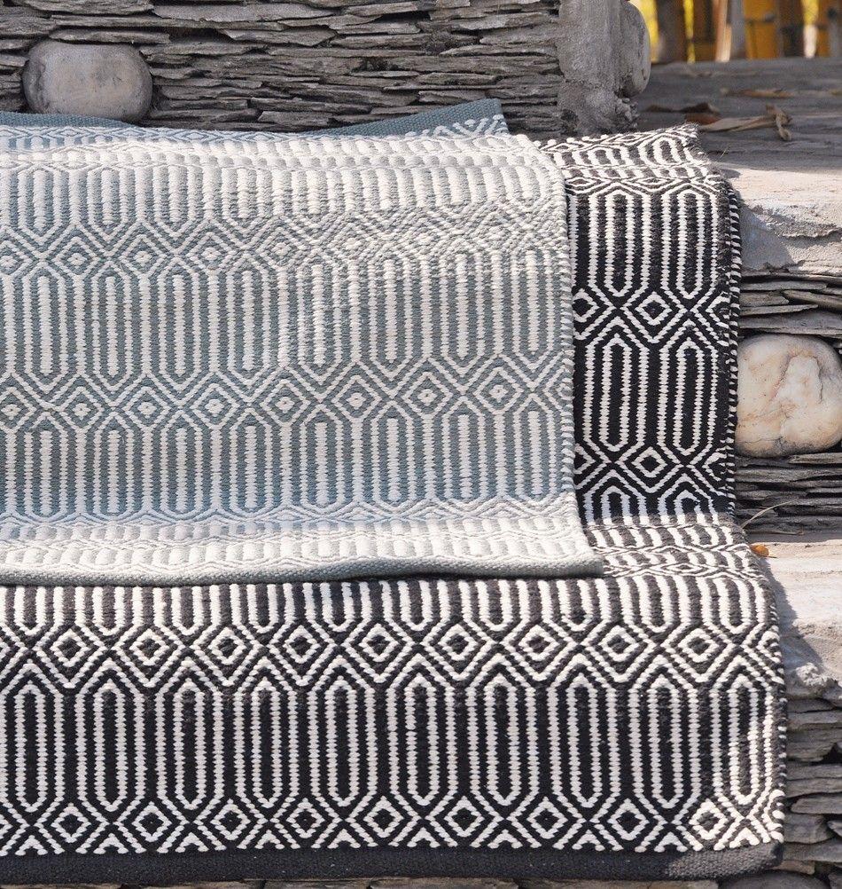 teppich braid baumwolle schwarz wei wohnaccessoires 62 pinterest teppiche baumwolle. Black Bedroom Furniture Sets. Home Design Ideas