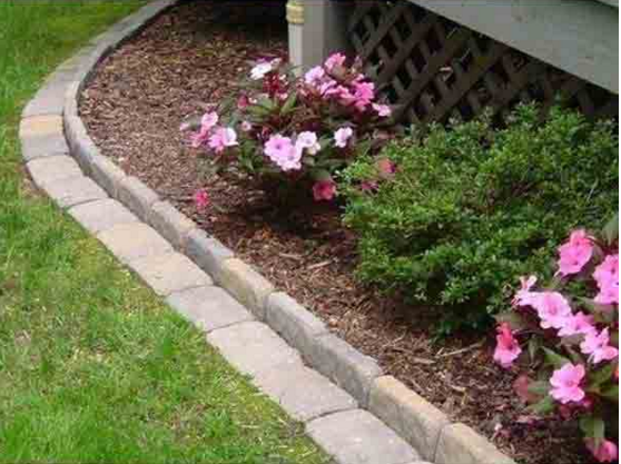 The Yard Edging Needed An Upgrade But One Like This Is Incredible Garden Yard Ideas Garden Edging Backyard