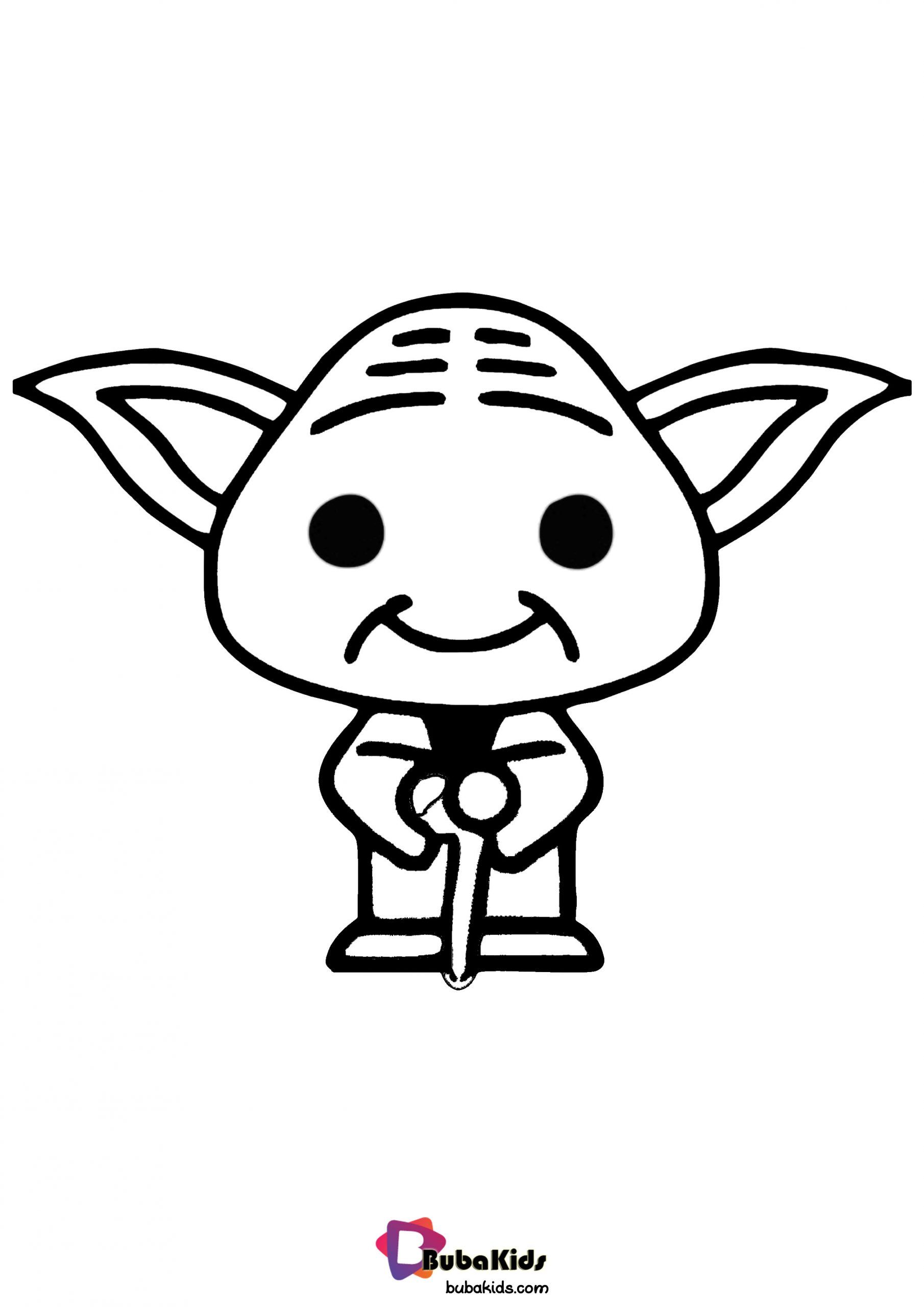 Baby Yoda Coloring Page Cartoon coloring pages, Coloring