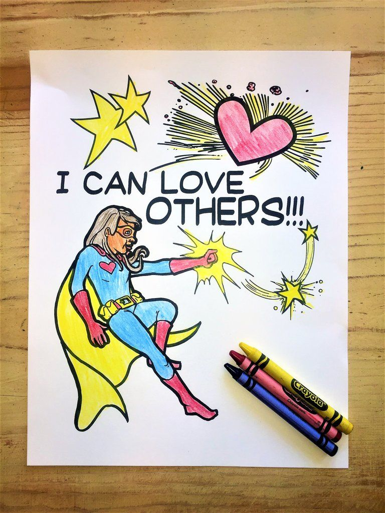 Free superhero girl coloring page