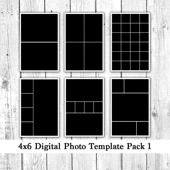 4x6 Photo Template Pack 12 Photo Card Templates Photo Etsy Photo Template Photo Card Template Postcard Template