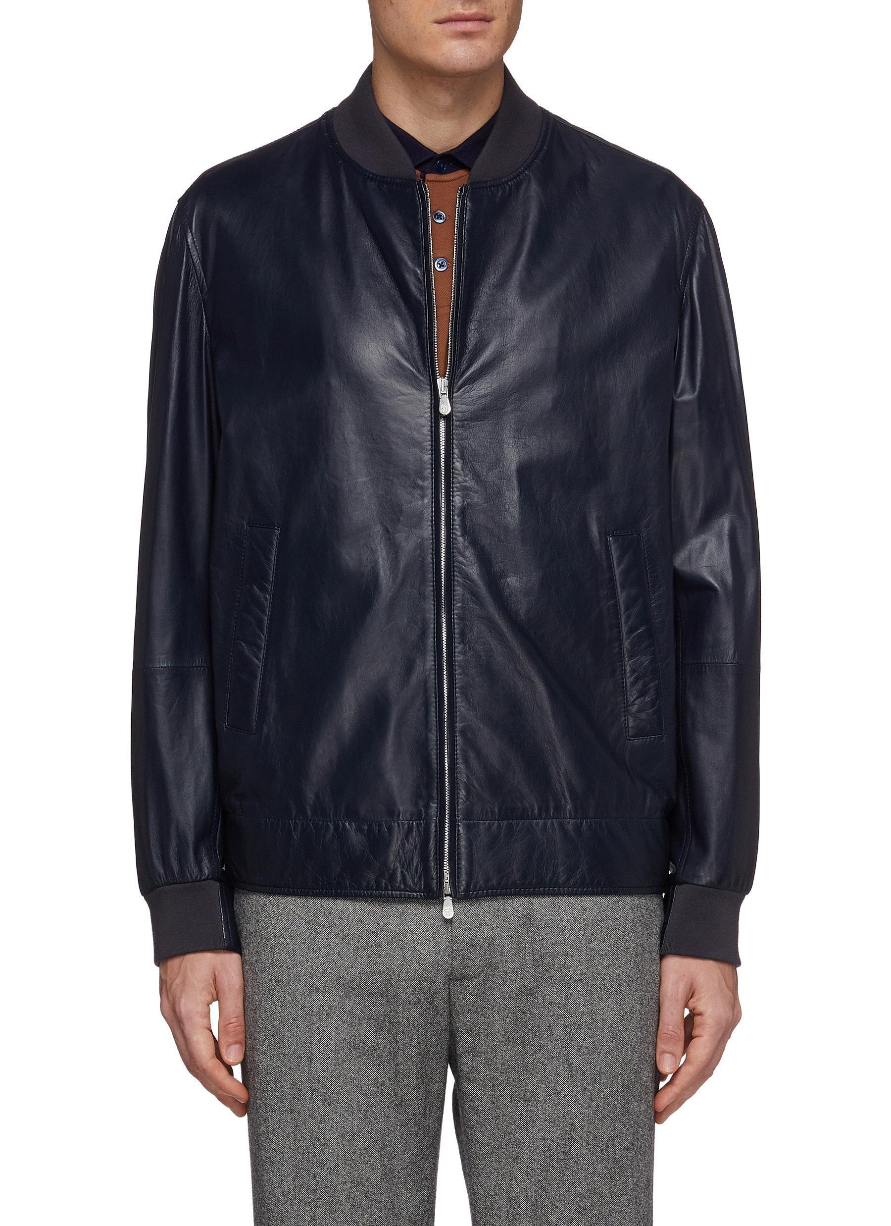 Brunello Cucinelli Leather Bomber Jacket Modesens Leather Bomber Jacket Bomber Jacket Leather Bomber [ 2475 x 1800 Pixel ]