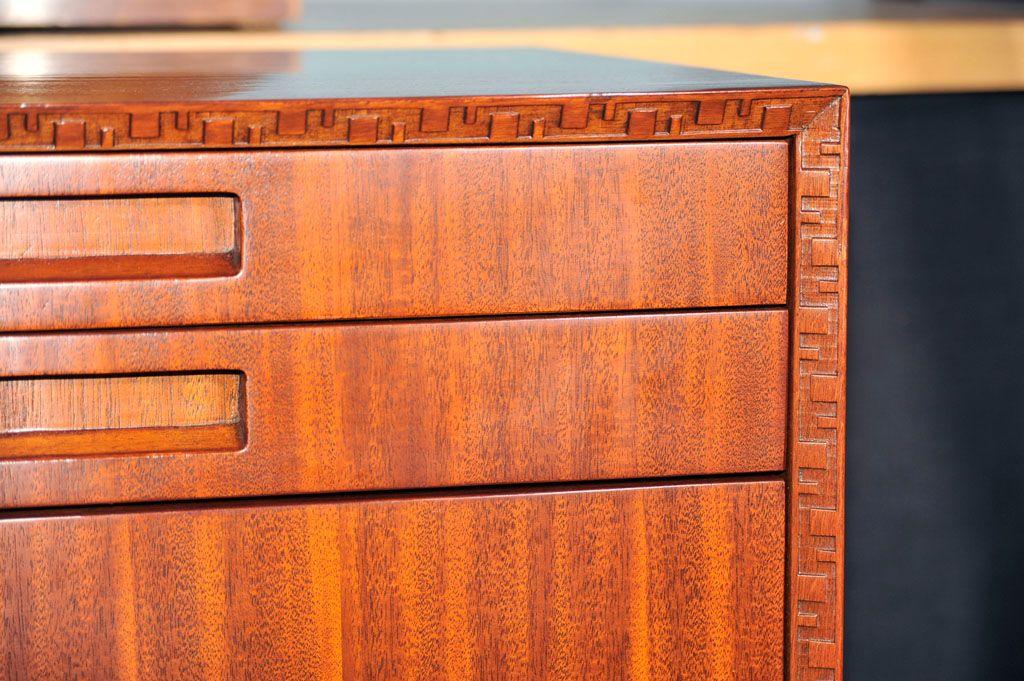 Frank Lloyd Wright inspired cabinet detail.