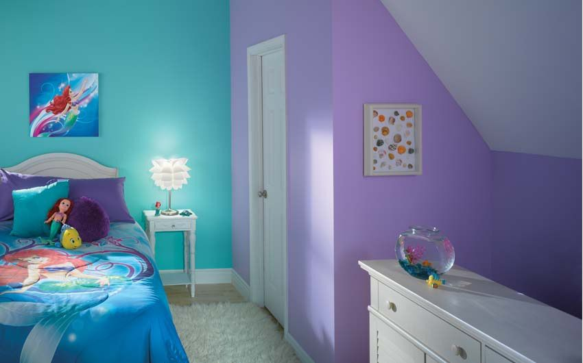lovely purple bedroom ideas kids room   girls paint in 2019   Disney kids rooms, Kids room paint ...