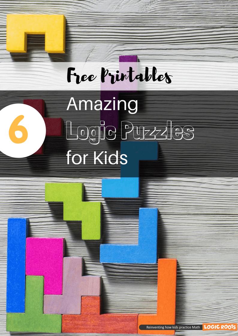 6 Amazing Printable Logic Puzzles For Kids - Brain Games | Pinterest