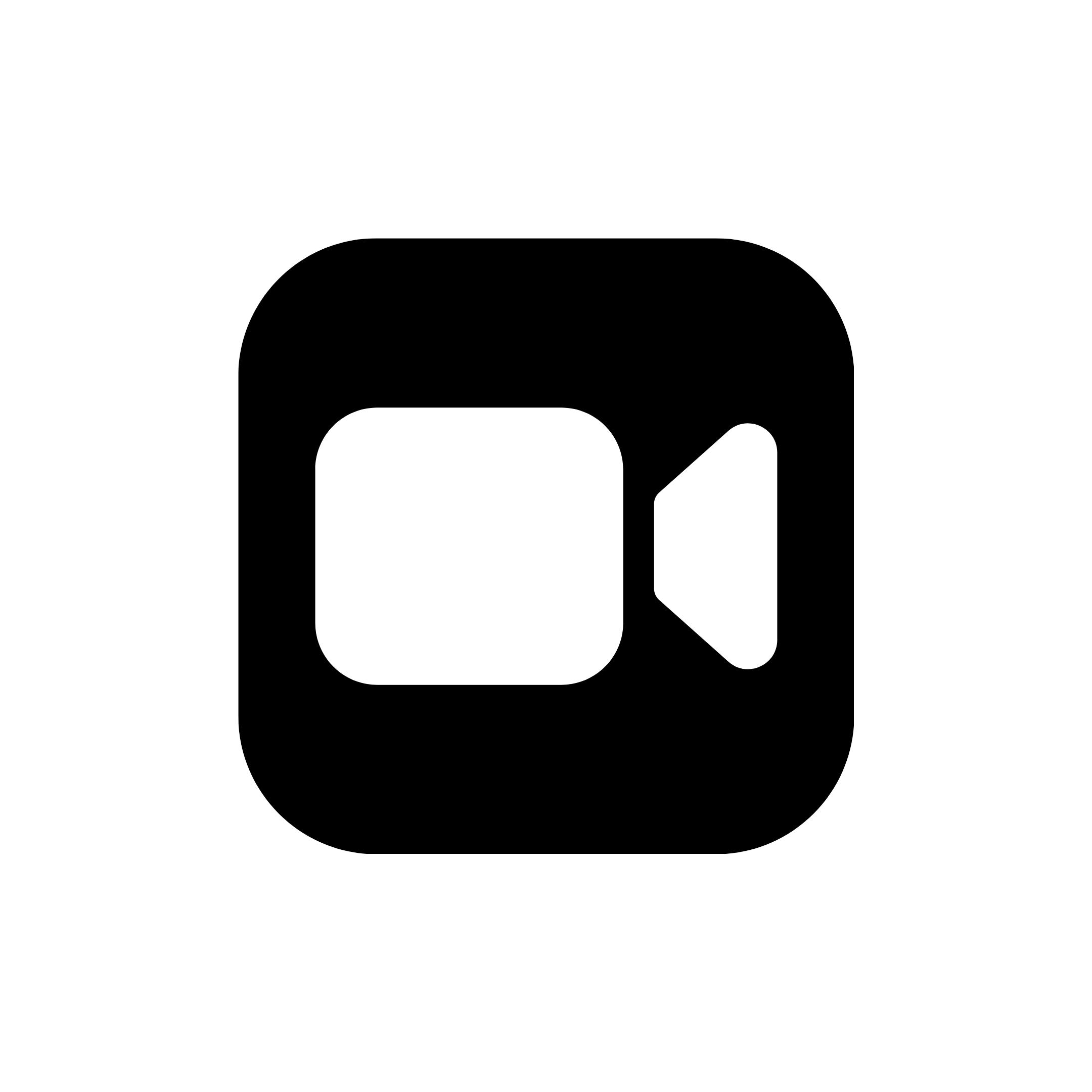 Minimal White Facetime App Icon Ios Icon Ios App Icon