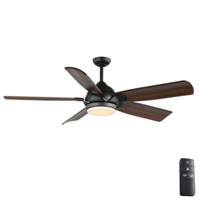 Home Decorators Collection Camrose 60 In Integrated Led Bronze Ceiling Fan With Light Kit And Remote Control With White Color Changing Technology Ceiling Fan