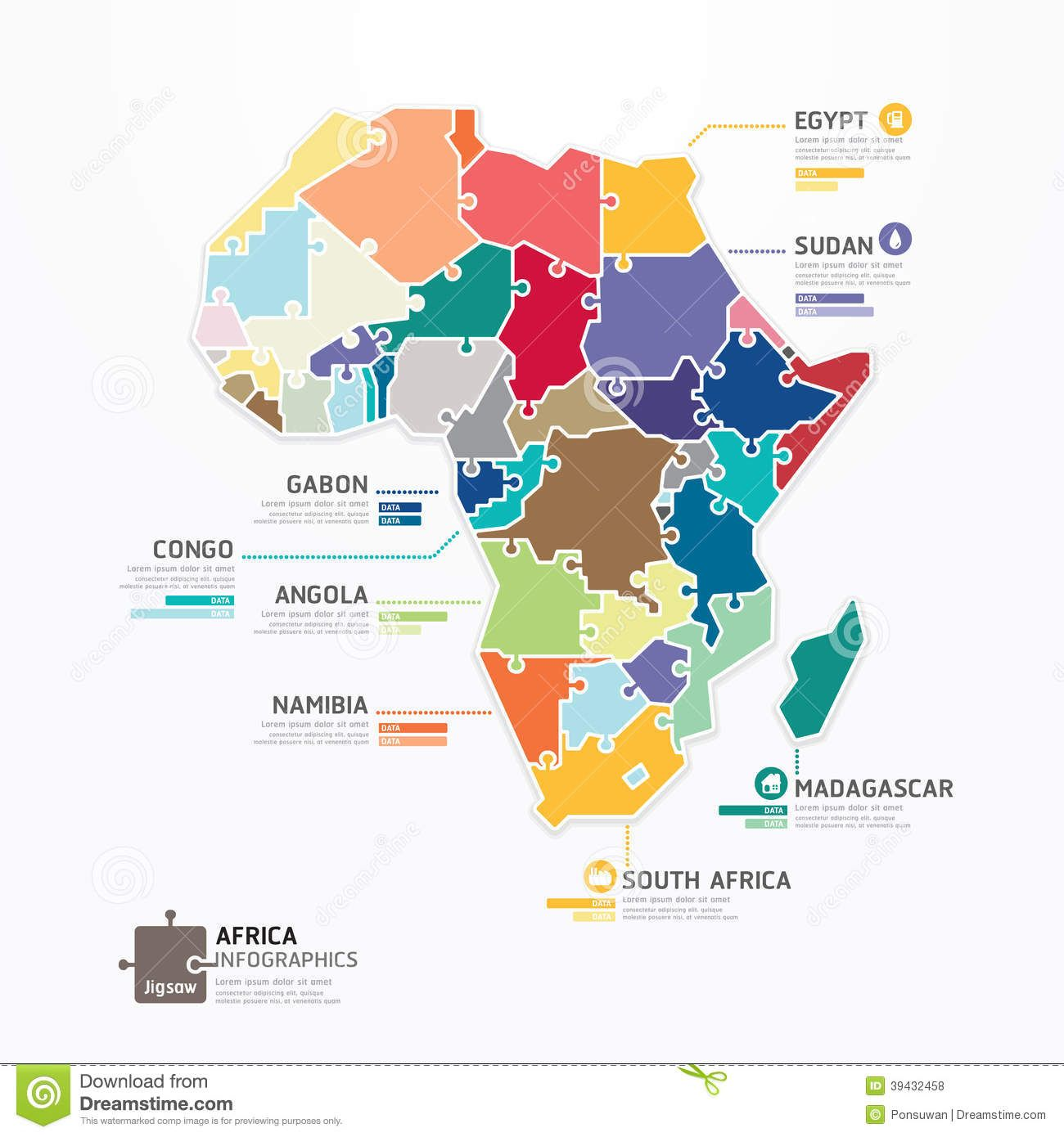 africa map vector illustrator
