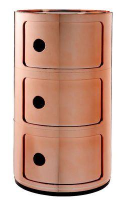 Rangement Componibili 3 Tiroirs Metallise Kartell Maud Kartell Mobilier Design Rangement