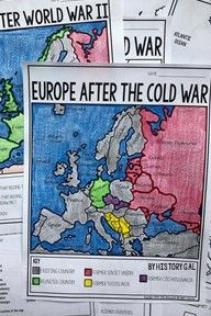 Cold war map activity pinterest cold war map activities and these two maps will help students become more familiar with europe during and after the cold gumiabroncs Gallery