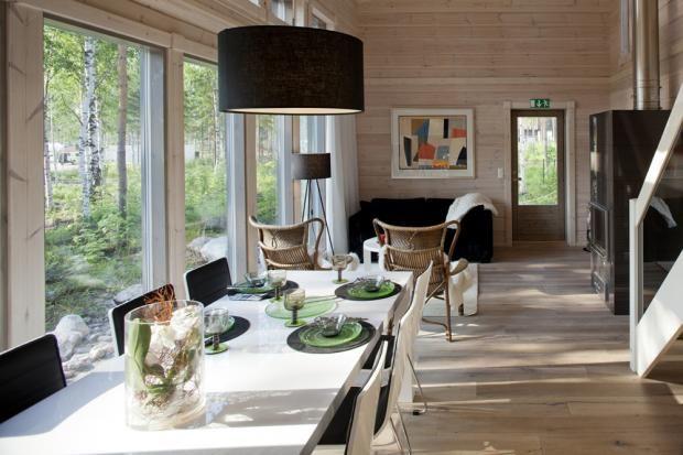 Kontio Pyry - Olohuone ja ruokailutila | Asuntomessut