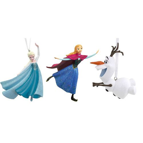 2016 Hallmark Disney Frozen Gift Boxed Ornament Set of 3 - Elsa Anna Olaf  Red #Hallmark