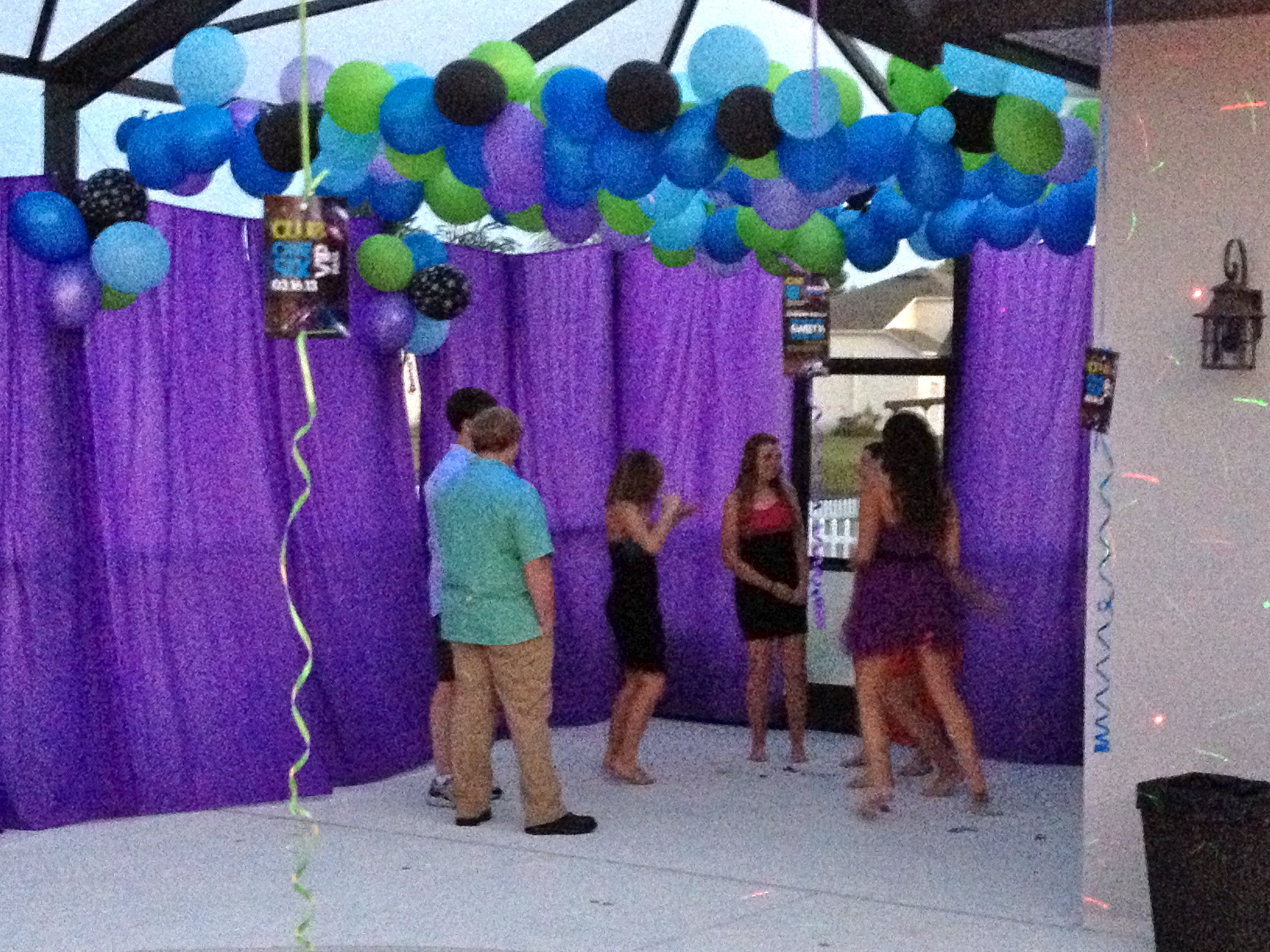 Dance Floor Decorations For A Club One Six Sweet Sixteen Outdoor Birthday Party Outdoors Birthday Party Sweet Sixteen Themes Outdoor Party Decorations