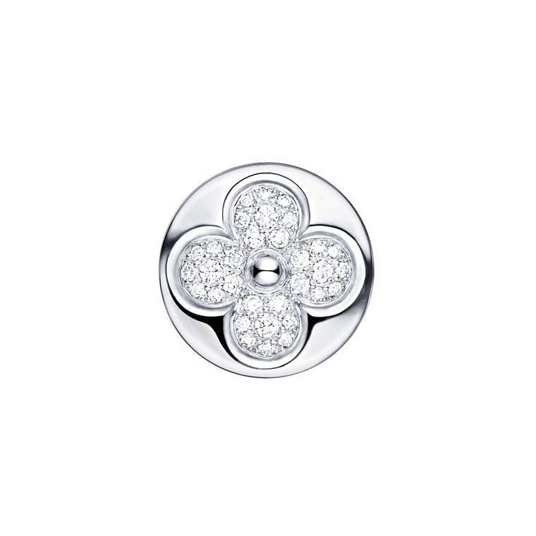 57d787717c43 The iconic Monogram flower motif at Louis Vuitton comes alive with  sparkling diamonds
