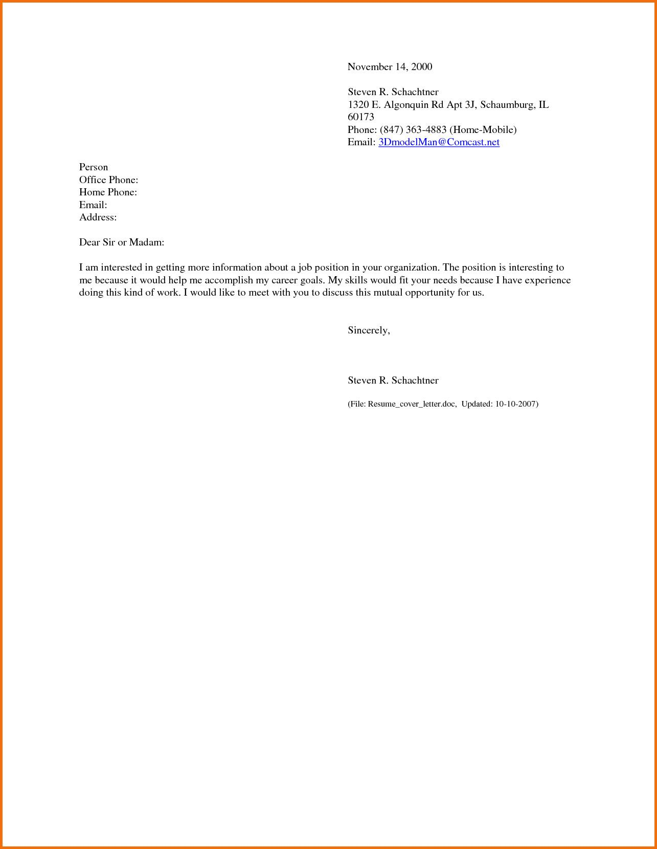 27+ Emailing Cover Letter And Resume Resume cover letter
