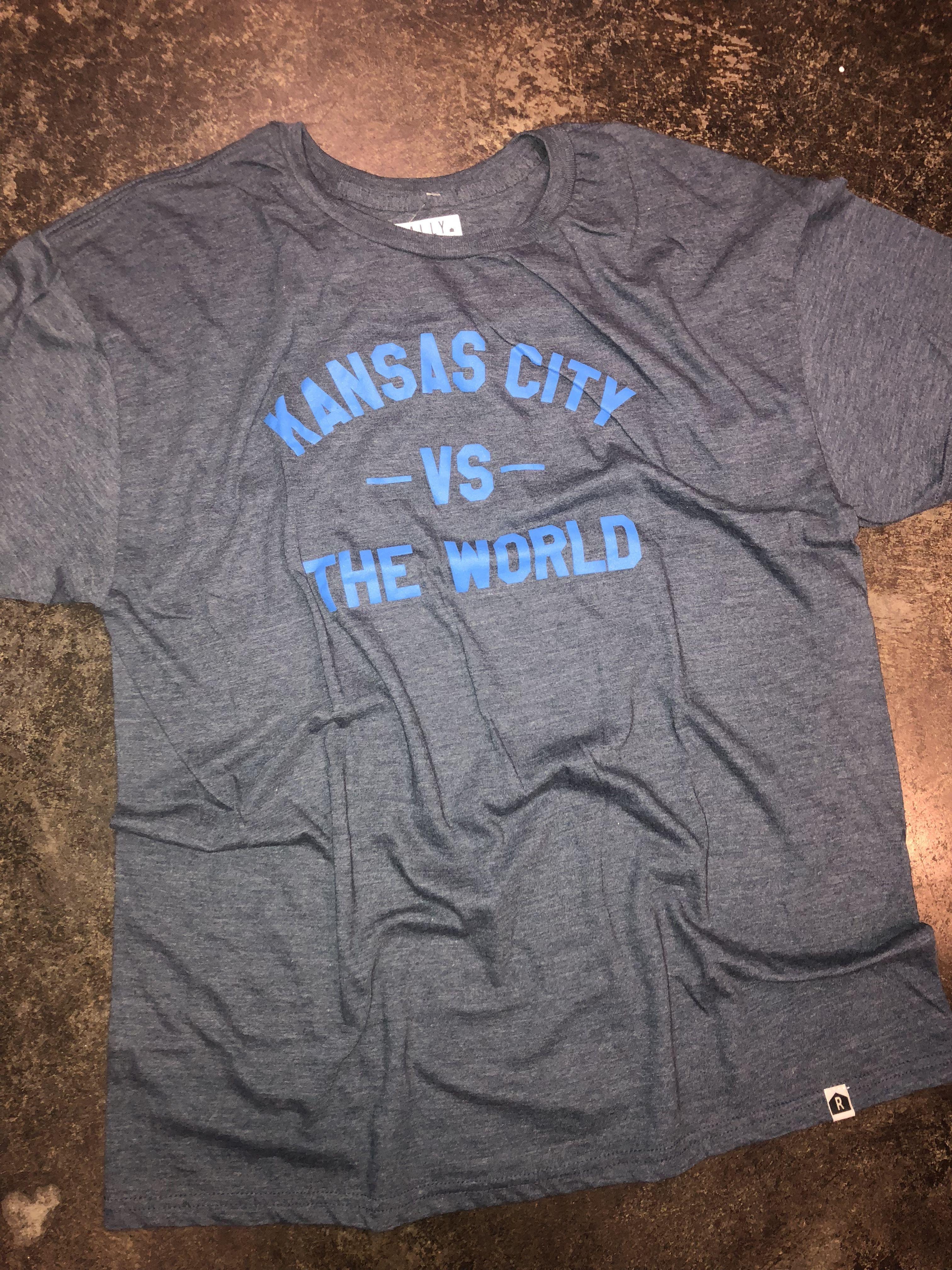 Kansas City Grey Vs The World Short Sleeve Fashion T Shirt Kansas
