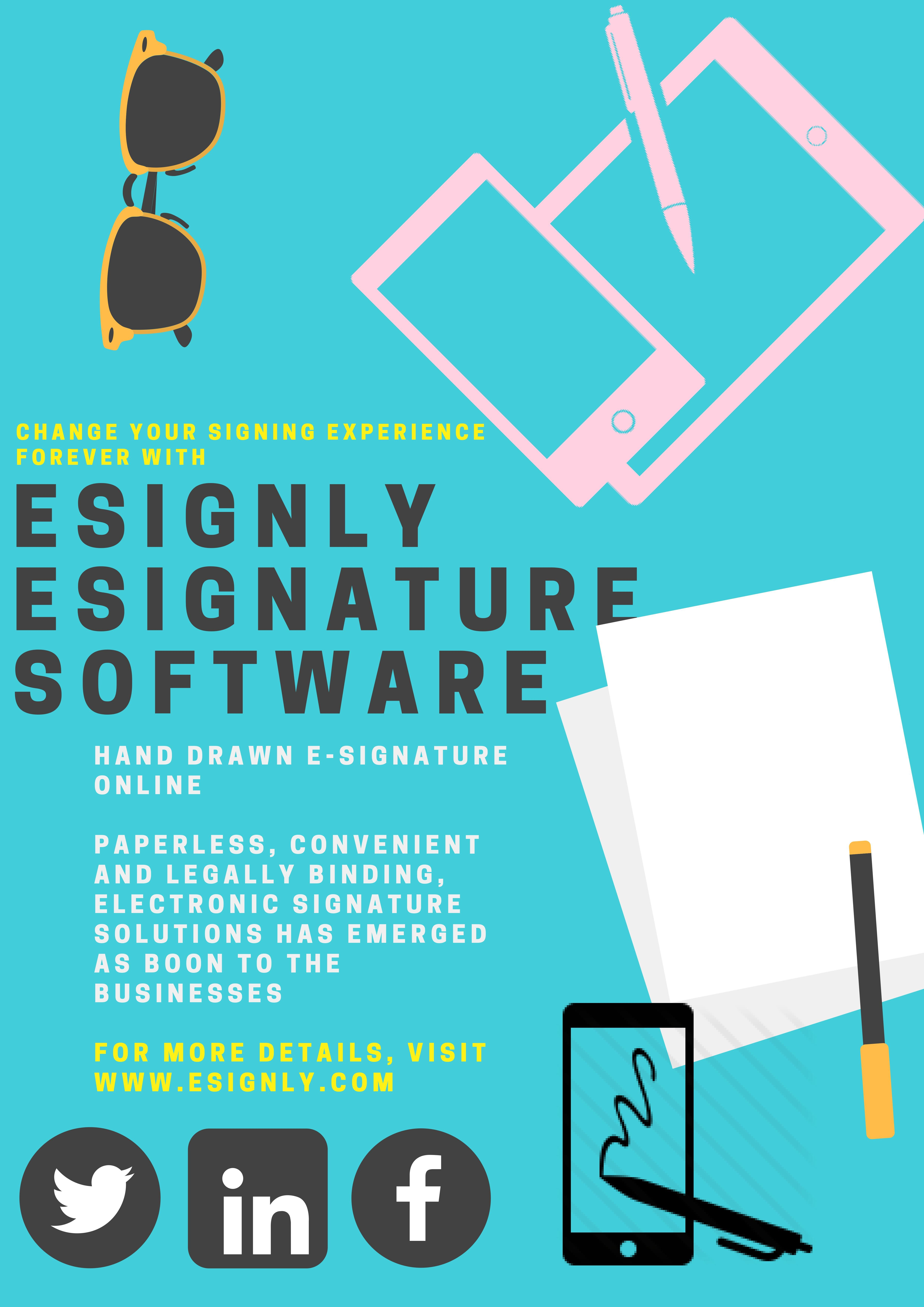 Best, innovative electronic signature software by eSignly to ...