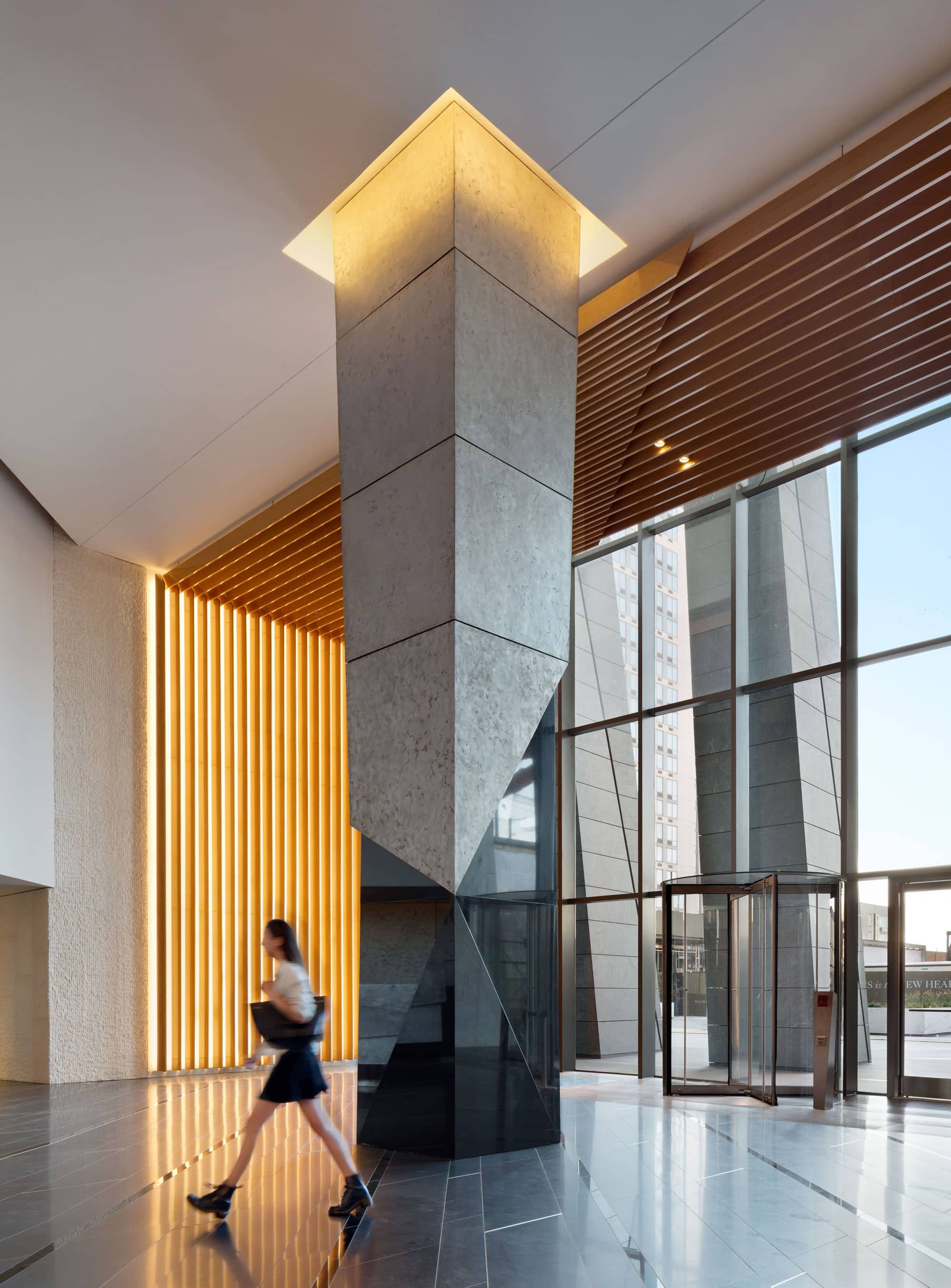 Kpf Uap Columns Decor Cladding Design Lobby Design