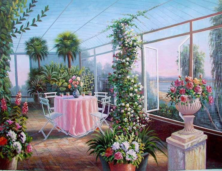 Simple Flower Garden Paintings