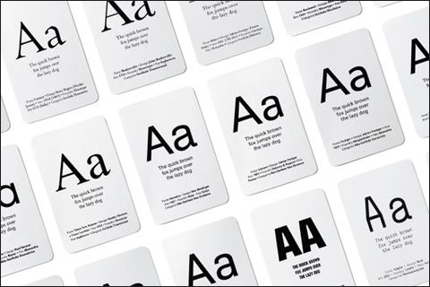 typographic concentration card game 01