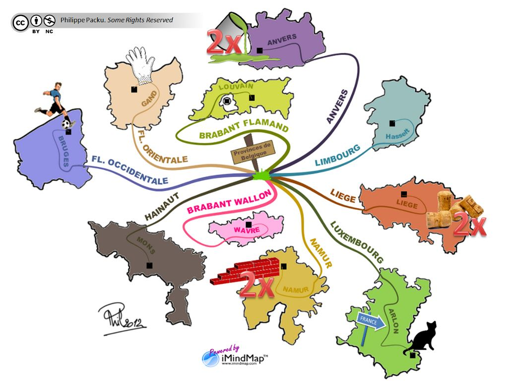 Carte Belgique Enseignement.Comment Memoriser Une Lecon De Geographie Carte Mentale De La