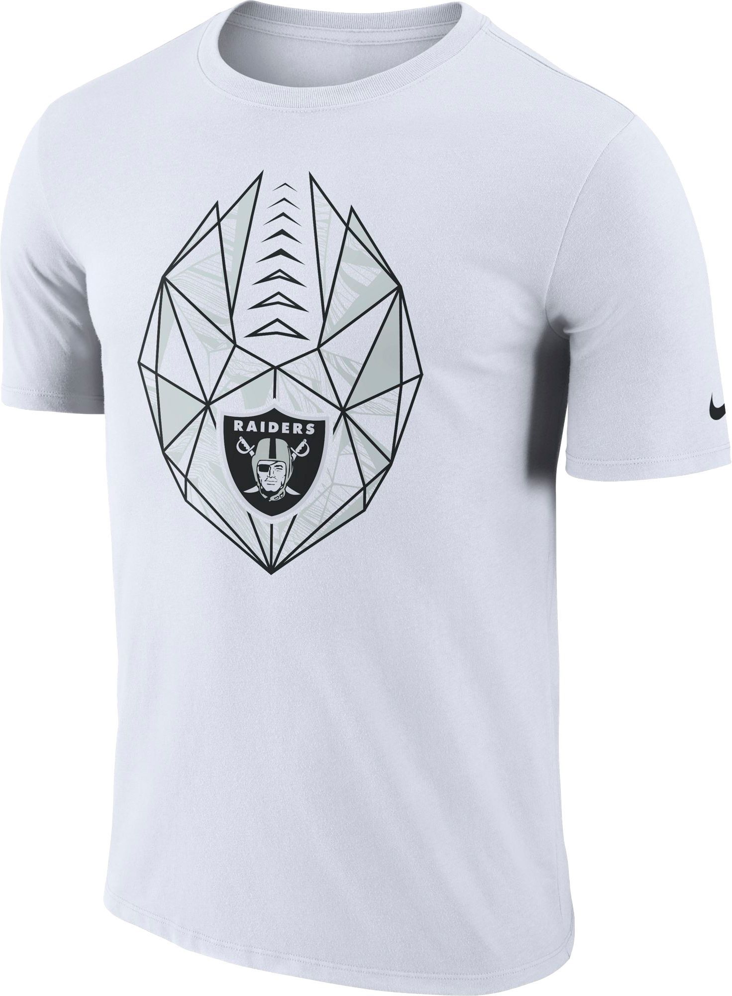 480ff03f Nike Men's Oakland Raiders Icon Performance White T-Shirt   Products ...