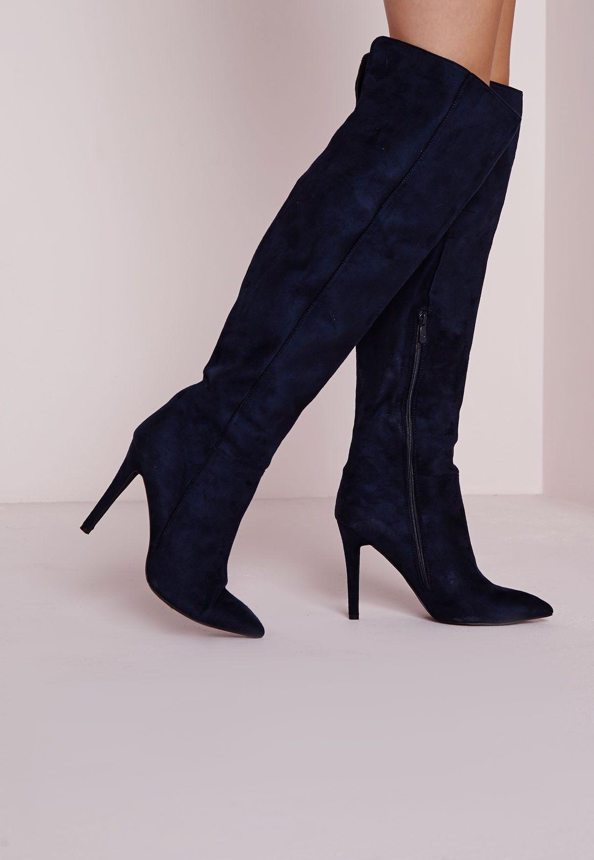 2017 Plus Cuissardes Talon place Bottes Femmes Sexy Ladies Lace Étirements Bottes en tissu Mode Noir Taille,noir,35