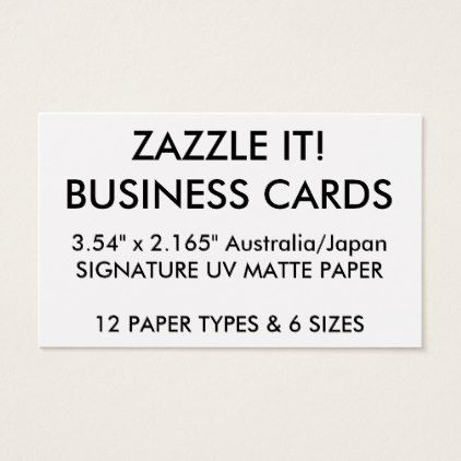 Custom Personalized Business Cards Blank Template  Business