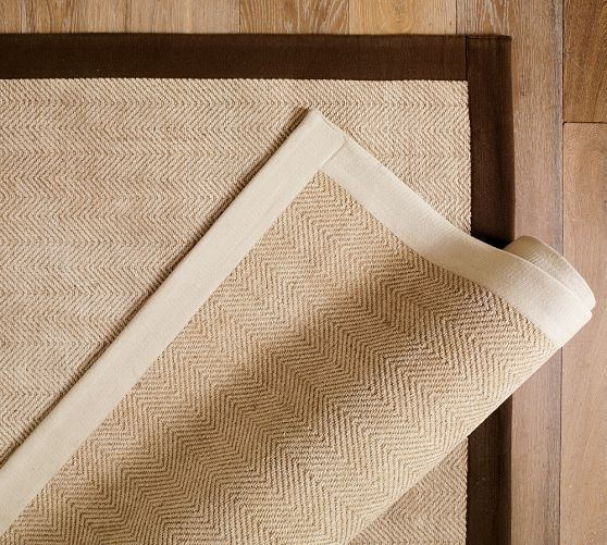 Color Bound Chenille Jute Rug Pottery Barn