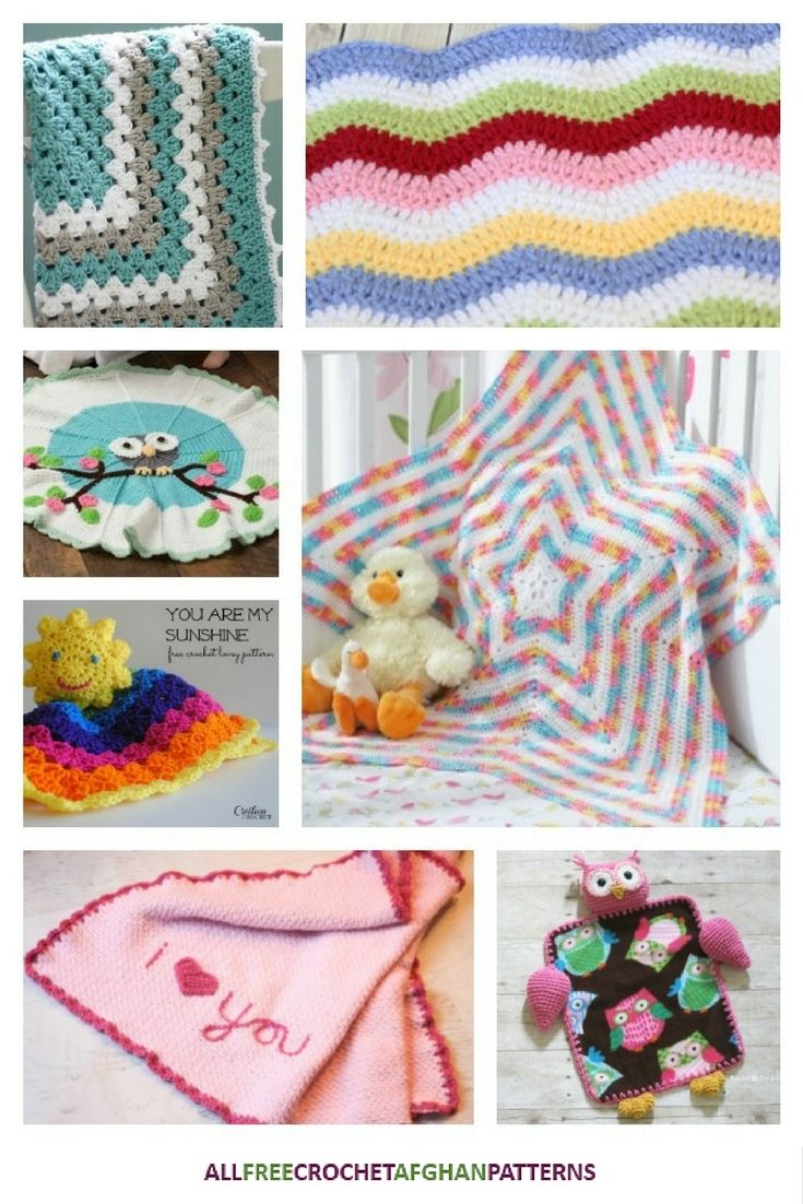 34 Adorable Crochet Baby Afghan Patterns | Cobijas de bebe, Cobija y ...