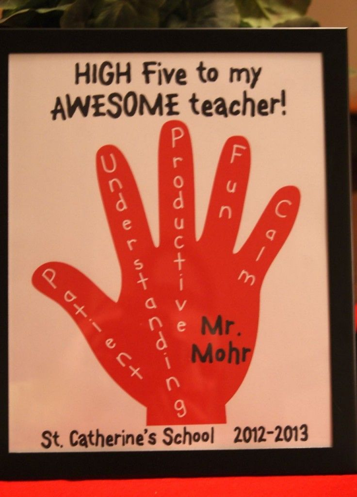 Card Making Ideas For Teachers Part - 33: Make This Easy High Five For My Awesome Teacher Appreciation Gift Idea.