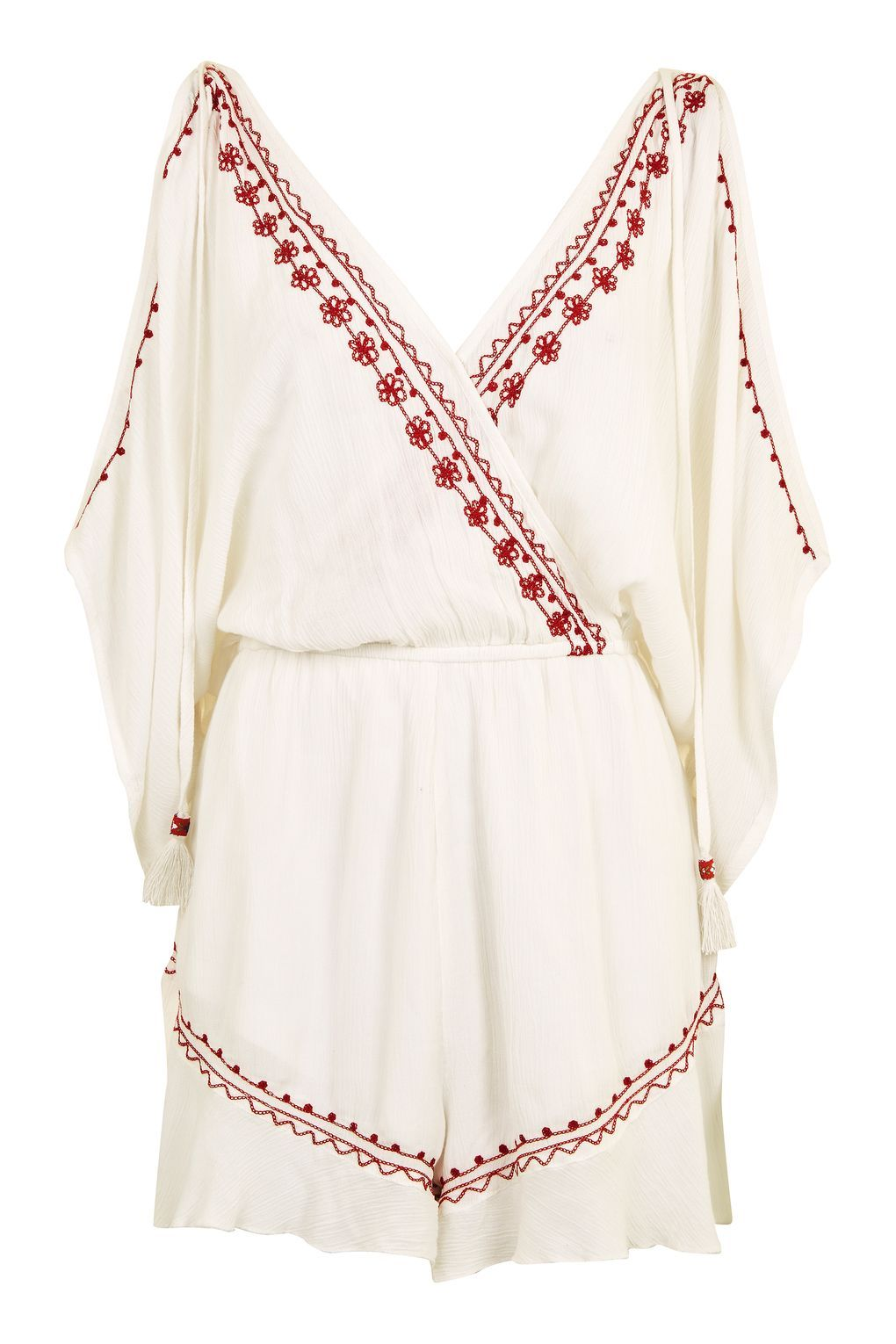 caef7b58e526 Embroidered Flower Playsuit by Band of Gypsies - Topshop Topshop Outfit
