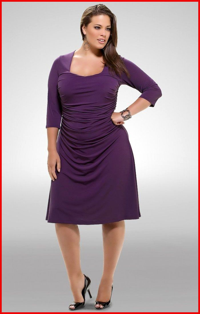 Short purple dress plus size