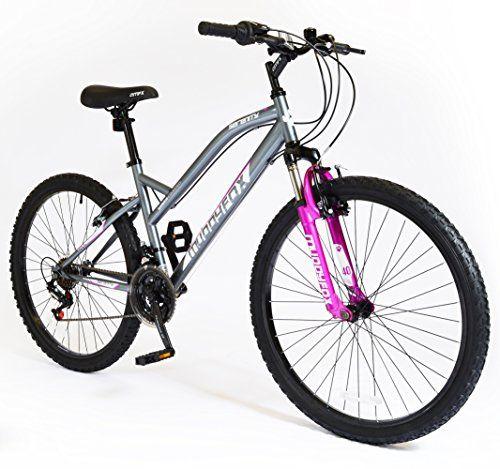 "Muddyfox Quest 20/"" Girls Hardtail Mountain Bike in Purple with Front Suspension"