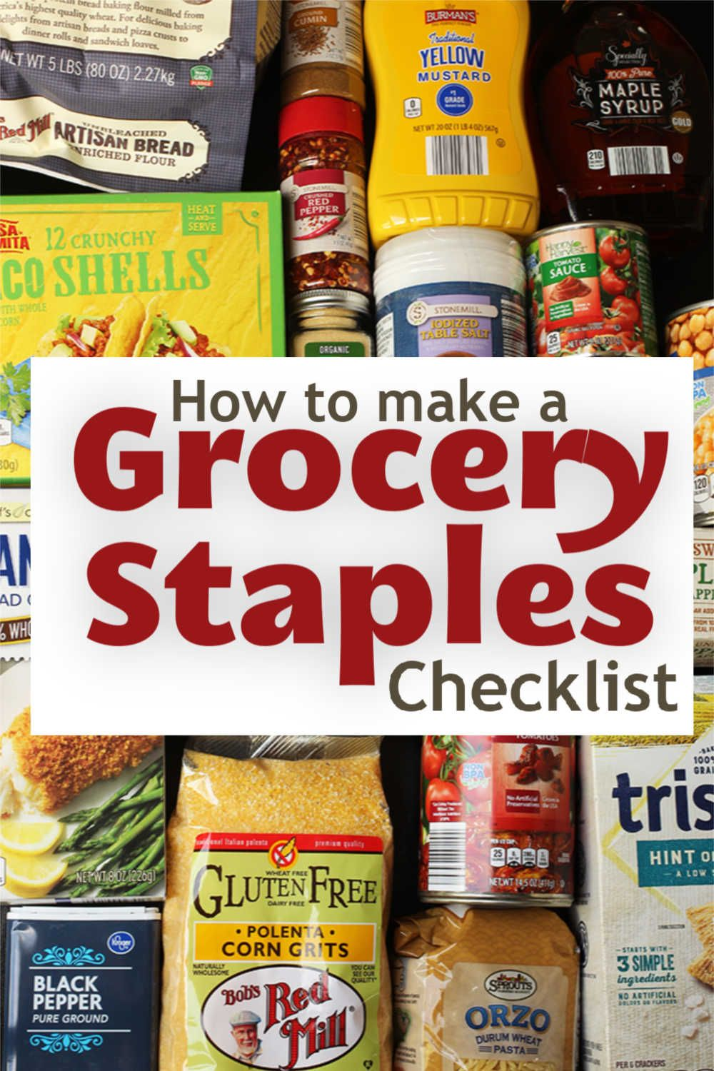 How to create your own grocery staples checklist good