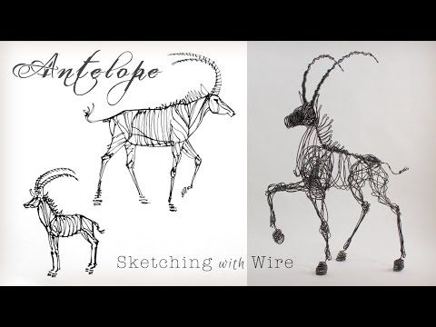 3-D Wire Sculpture with a single line of Wire by Suzanne Moulton - YouTube