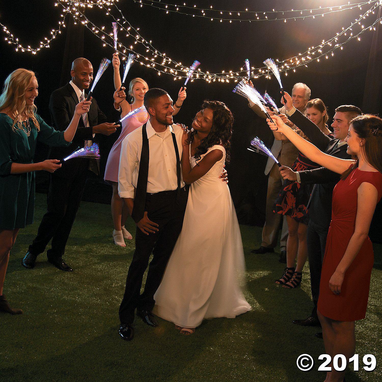 Lighted Fiber Optic Wands Celebrity weddings, Wedding
