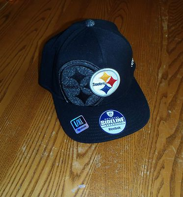 942813953 Pittsburgh Steelers Hat Large   X-Large XL Flex Fit Sideline Cap NFL  Authentic