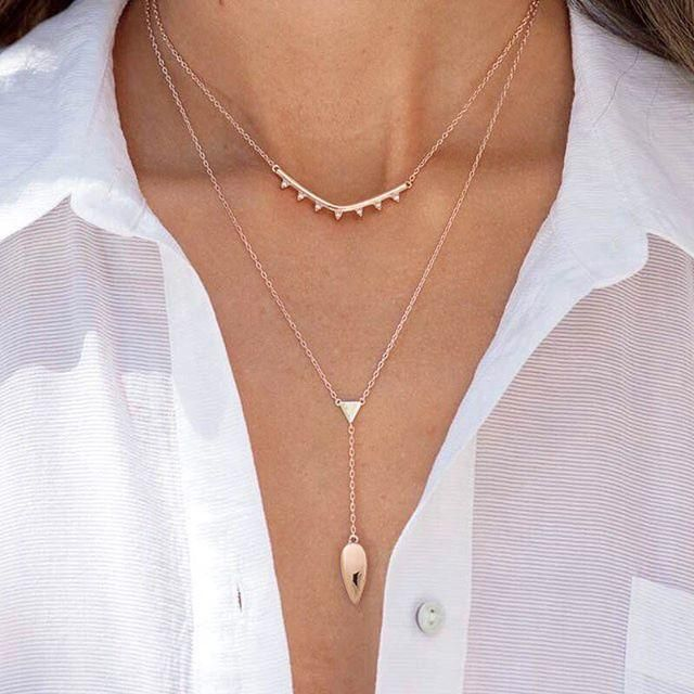 Our favorite pre-layered look, in flirty rose gold. #tbt #stelladotstyle #rosegold #lariat #jotd