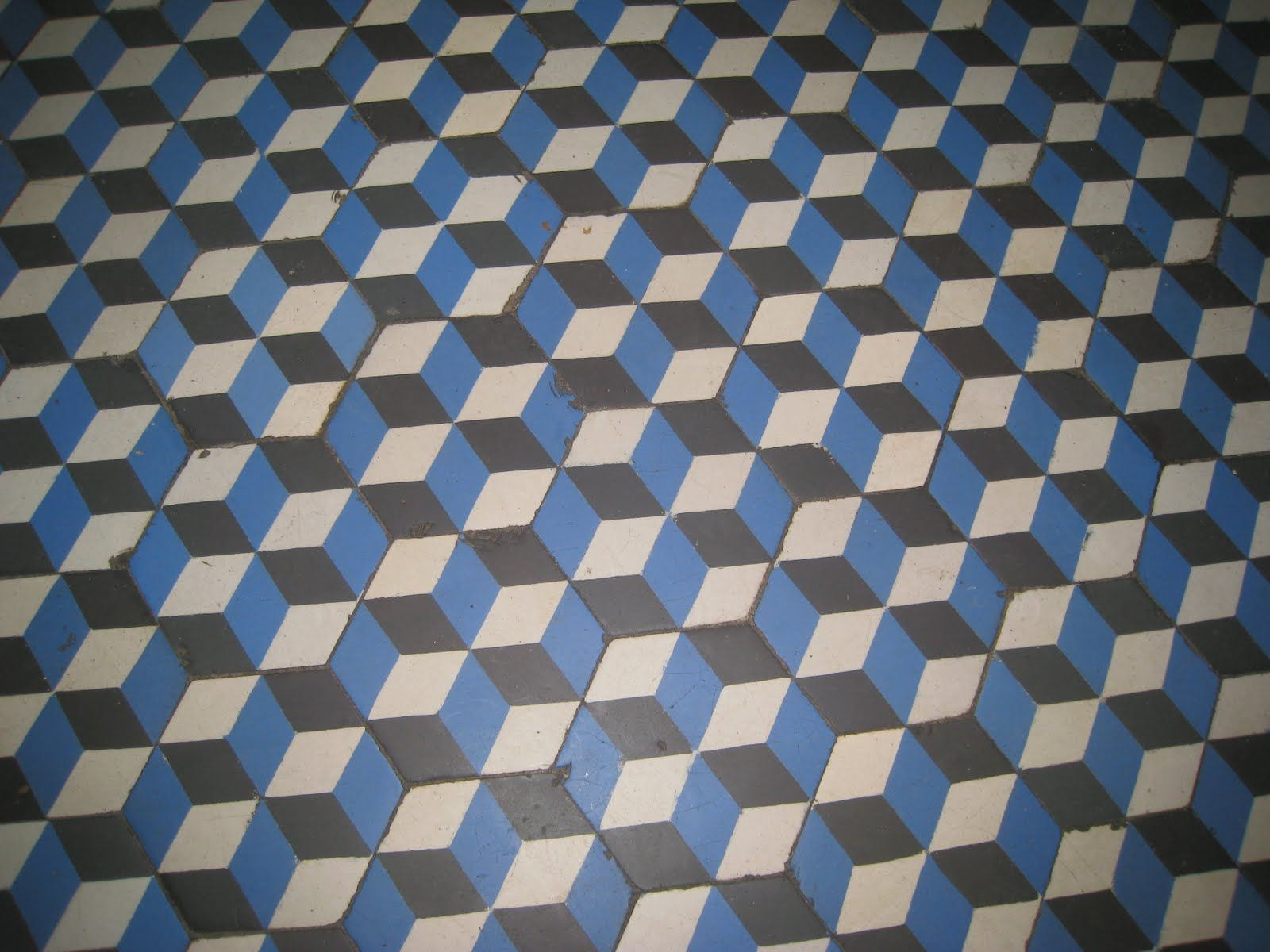 Beautiful Parisian Geometric Mosaic Floor