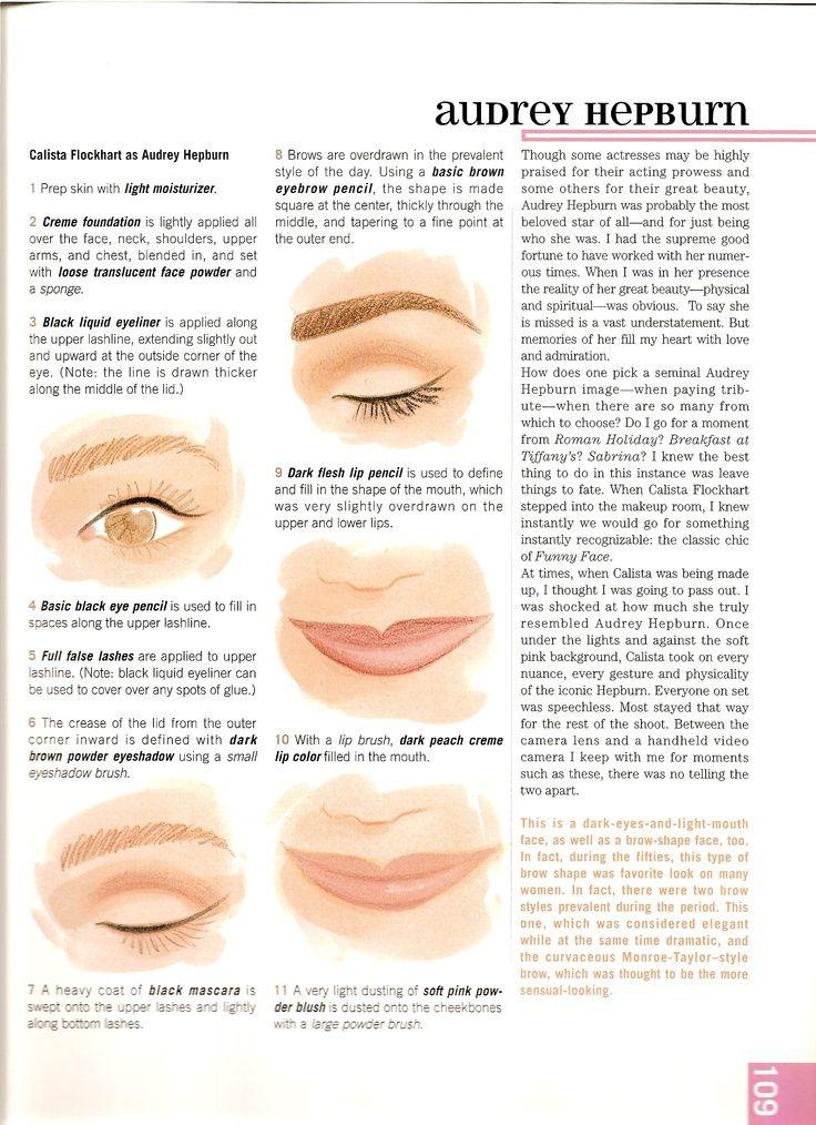audrey hepburn makeup howto Makeup tutorials you can find here: crazymakeupideas