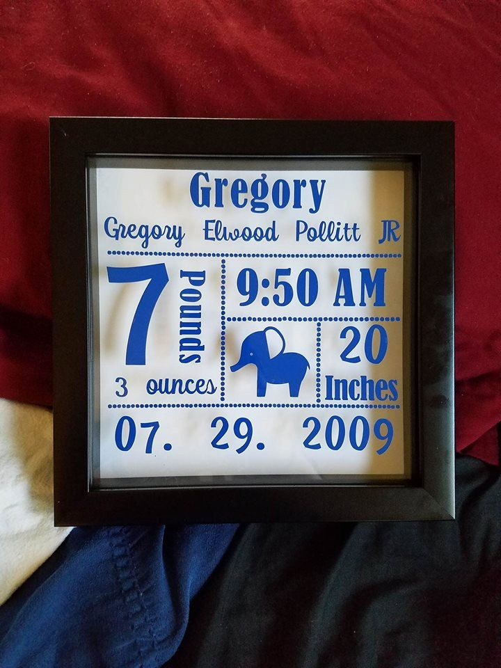 Birth Announcement Shadow Boxes For Boy Or Girl With