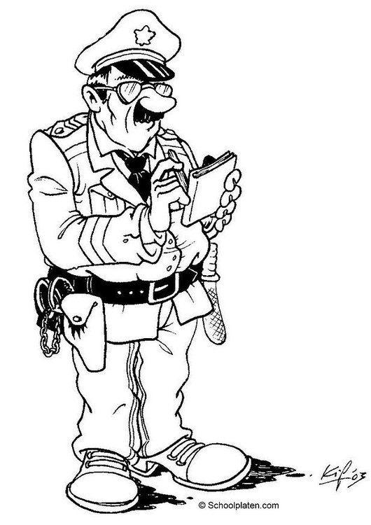Malvorlage Polizist 01