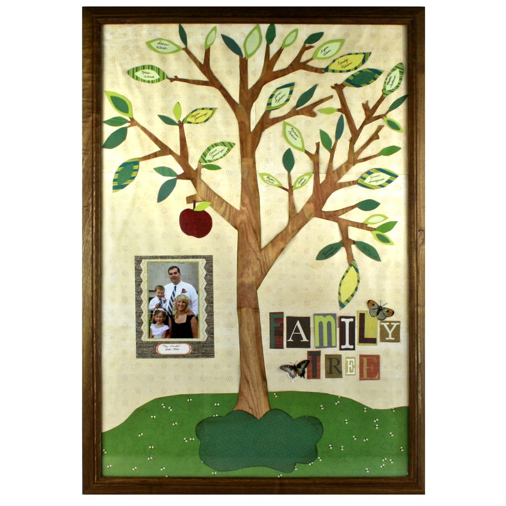 Family Tree Wall Hanging   Sewing   Pinterest   Family trees, Paper ...