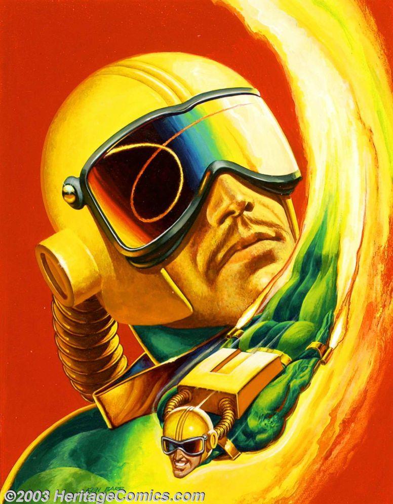 KEN BARR - art for 1995 Marvel / Fleer Ultra Spiderman Gold Signature Trading Card