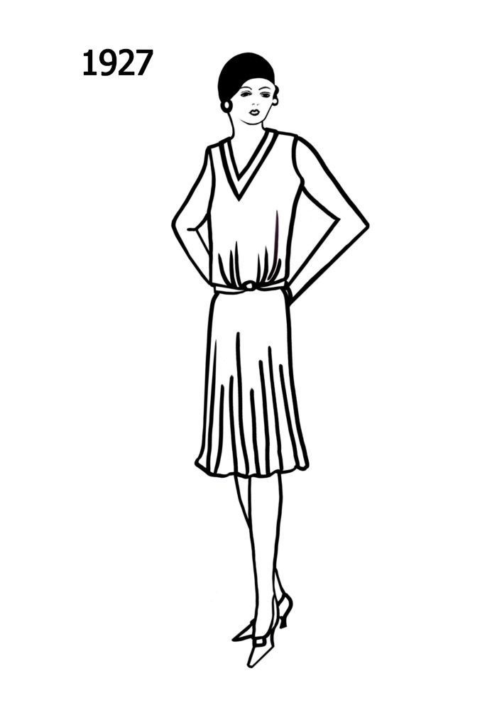Fashion Illustration Clothes Design 1920s Flapper Dress Fashion Illustration